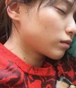戸田恵梨香寝顔