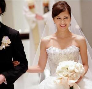 安田美沙子結婚式画像